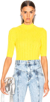 Jil Sander Ribbed Sweater in Bright Yellow | FWRD