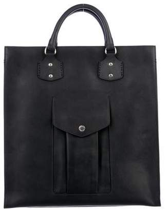 Ghurka Castor Pocket Leather Tote