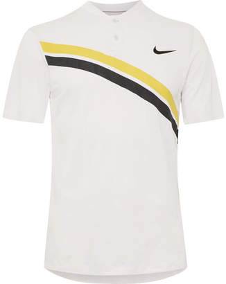 Nike Tennis - Zonal Cooling Roger Federer Striped Dri-FIT Mesh Tennis Polo Shirt
