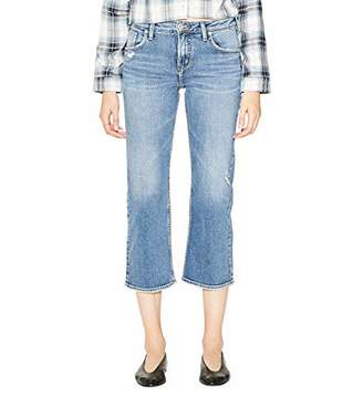 Silver Jeans Co. Women's Wide Leg High Rise Crop