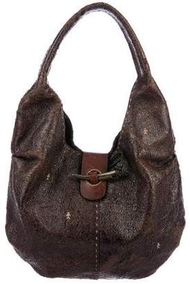Henry Beguelin Distressed Leather Hobo