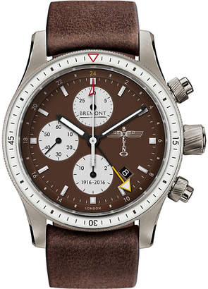 Bremont BB100 Boeing 100 titanium and leather chronograph watch