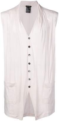 Ann Demeulemeester panelled sleeveless cardigan