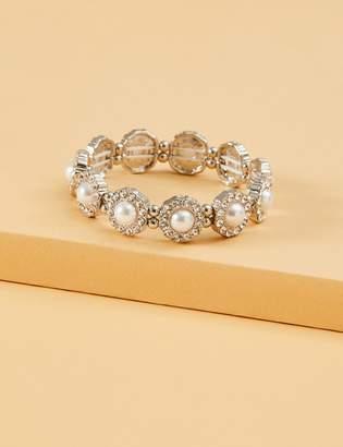 Lane Bryant Pearl Embellished Stretch Bracelet