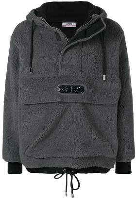 Gcds fleece hooded sweatshirt