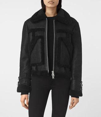 Asher Shearling Biker Jacket $1,320 thestylecure.com