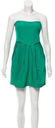 See by Chloe Strapless Pleated Mini Dress