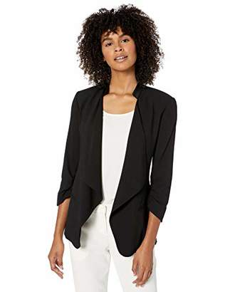 Halston Women's Ruched Sleeve Slim Suiting Jacket
