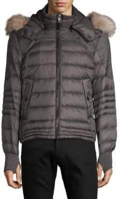 Jet Lag Faux Fur-Trimmed Quilted Jacket