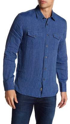 Todd Snyder Striped Spread Collared Long Sleeve Shirt