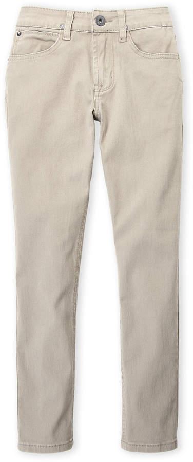 Boys 8-20) School Slim Straight Pants