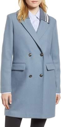 BCBGeneration Knit Collar Wool Blend Coat