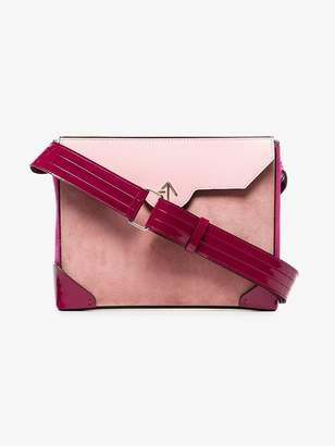 Atelier Manu pink Bold leather and suede cross-body bag