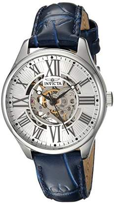 Invicta Women's 'Vintage' Automatic Stainless Steel and Leather Casual Watch