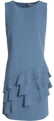 Alice + Olivia Alice+olivia Ruffle-Trimmed Crepe Mini Dress