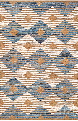nuLoom Marla Denim & Diamonds Hand-Braided Rug