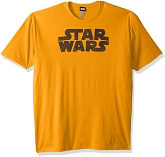 Star Wars Men's Simplest Logo Graphic Tee,4X