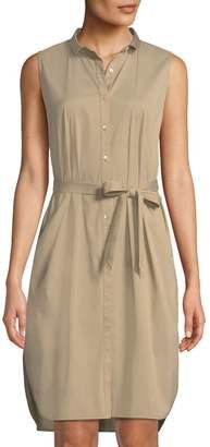 Lafayette 148 New York Harleen Sleeveless Poplin Shirtdress