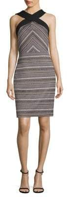 Laundry by Shelli Segal Geometric Jacquard Fitted Dress