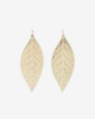 Express Filigree Leaf Drop Earrings