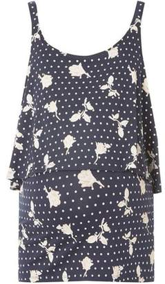 Dorothy Perkins Womens **Mamalicious Maternity Navy Floral Jersey Top