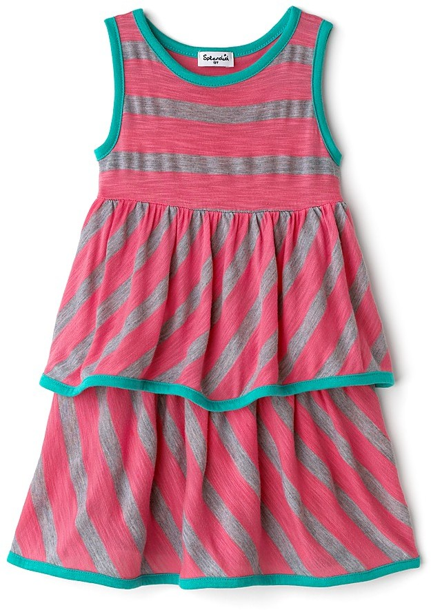 Splendid Littles Toddler Girls' Slub Stripe Dress with Contrast Trim - Sizes 2T-4T