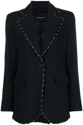 Emporio Armani studded tailored jacket