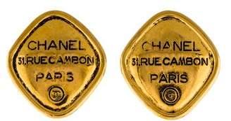 Chanel 31 Rue Cambon Clip-On Earrings