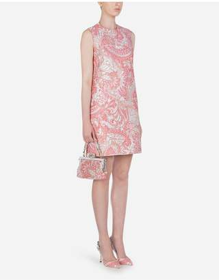 Dolce & Gabbana Sleeveless Short Lame Jacquard Dress