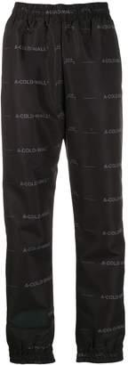 A-Cold-Wall* logo print track pants