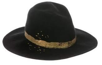 Eugenia Kim Wool Embellished Hat