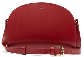 A.P.C. Half Moon Leather Cross Body Bag - Womens - Dark Red