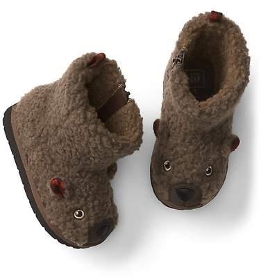 Cozy bear booties