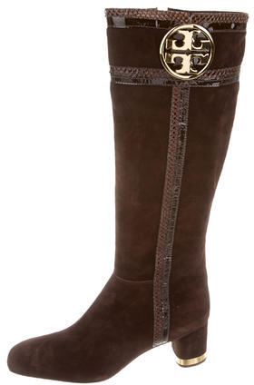 Tory BurchTory Burch Suede Logo Boots