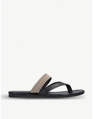 af7055b93556 Kurt Geiger London Mae beaded leather sandals