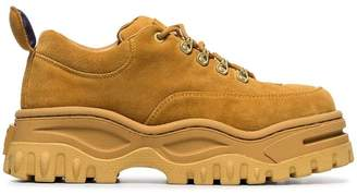 Eytys yellow angel suede leather sneakers