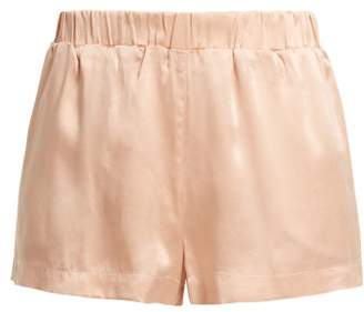 Asceno - Silk Pyjama Shorts - Womens - Light Pink