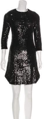 Tory Burch Sequin Knee-Length Dress