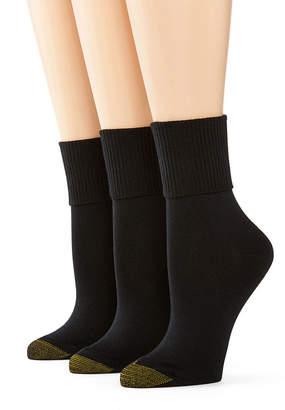 Gold Toe GoldToe 3-pk. Ultra Soft Turn-Cuff Socks