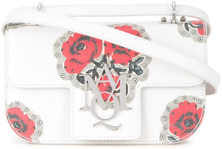 Alexander McQueenAlexander McQueen Insignia poppy print crossbody bag