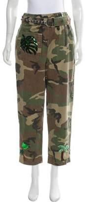 Marc Jacobs Camo Print Mid-Rise Pants Olive Camo Print Mid-Rise Pants