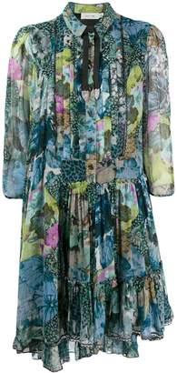 Coach floral print shirt dress