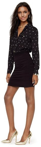 Juicy Couture Pearl Drop Ruched Shirtdress