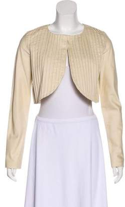 Zero Maria Cornejo Pleated Cropped Jacket
