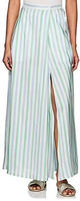 Thierry Colson Women's Silvana Striped Silk Maxi Skirt