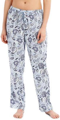 S.O.H.O New York Blue Damask Woven Long Pant