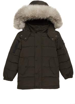 Moose Knuckles Midcore Quilted Hooded Parka with Genuine Fox Fur Trim