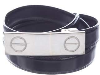 Cartier Narrow Patent Leather Belt