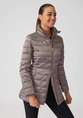 Emporio Armani Ea7 Premium Technical Fabric Jacket With Zip And Eco-Down Padding