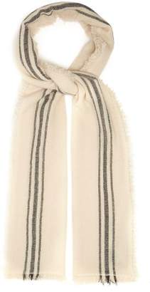 Isabel Marant Vala Striped Fine Knit Scarf - Womens - White